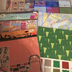 New Scrapbook Kit Lot Pages Stickers